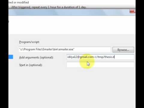 Windows Scheduler Backup To EMail send to gmail