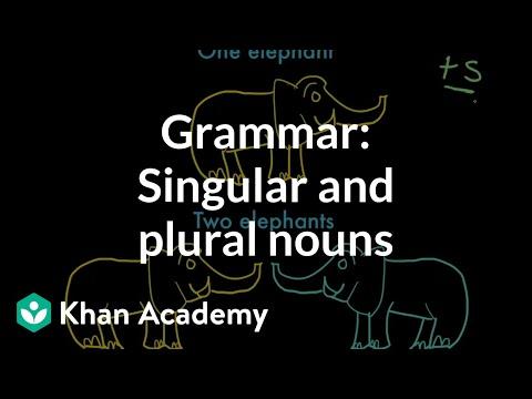 Introduction to singular and plural nouns | Grammar | Khan Academy