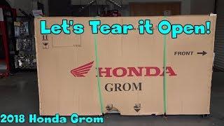 2018 Honda Grom Unboxing! McKibben Powersport Honda
