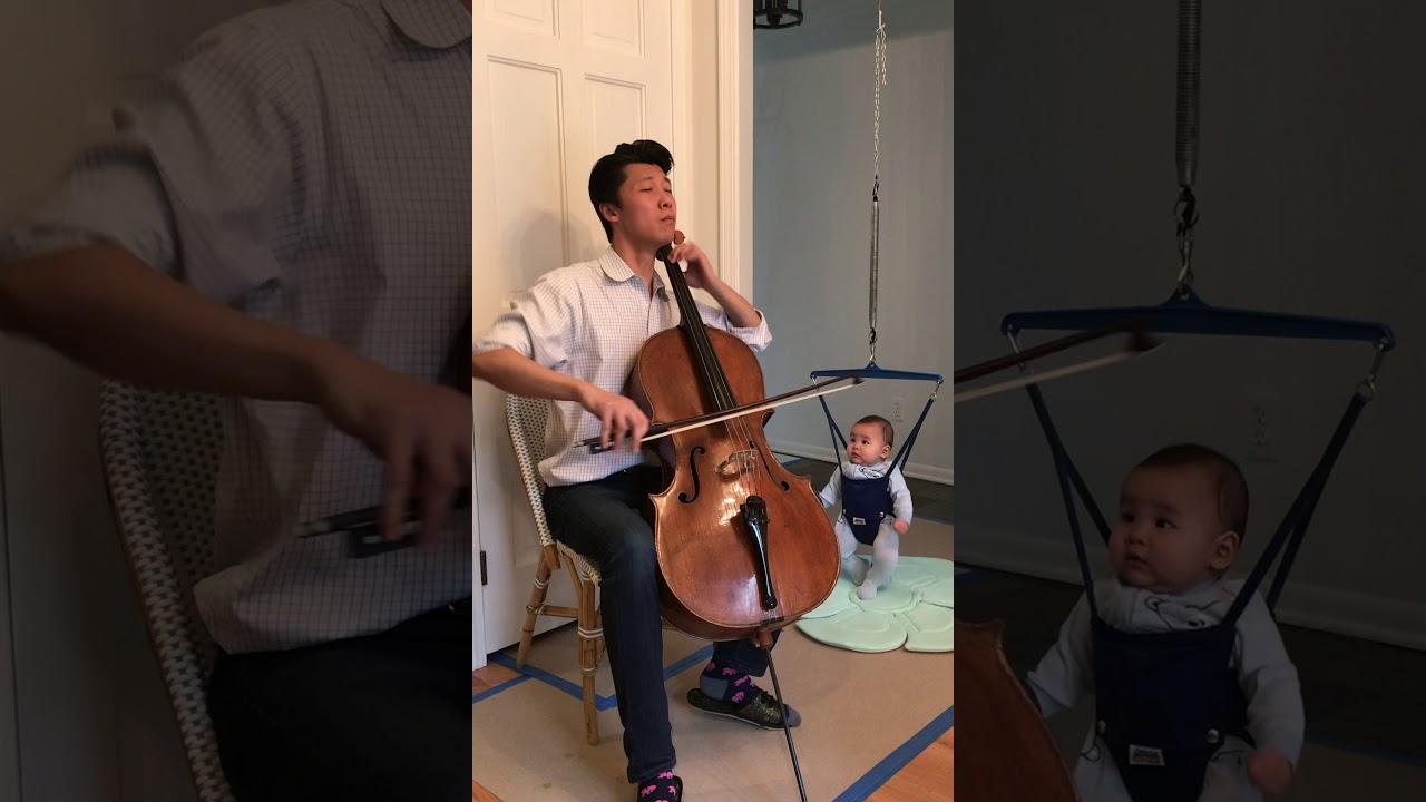 "Artwork representing ""Courante"" performed by Principal Cello Wei Yu (James C. Gordon Chair)"