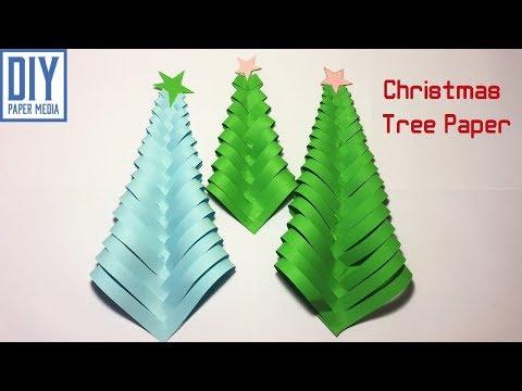 How to make Christmas tree paper |  DIY Xmas tree paper decoration