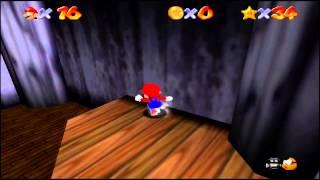 Super Mario 64 (N64) Big Boo's Haunt Star #5 Big Boo's Balcony