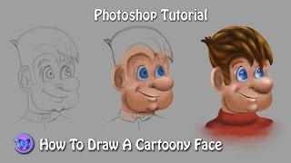 Tutorial : How To Draw Cartoon Face In Photoshop  For Beginners