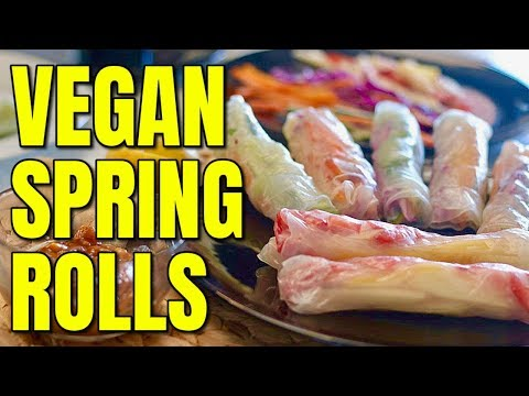 Vegan Spring Rolls and Peanut Sauce / Two Vegan Spring Roll Recipes