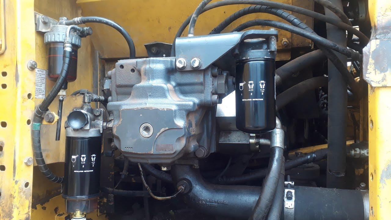 Cara menyetel pompa hydraulic excavator komatsu,service excavator