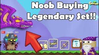 NOOB BUYING LEGENDARY SET!! OMG!! | GrowTopia