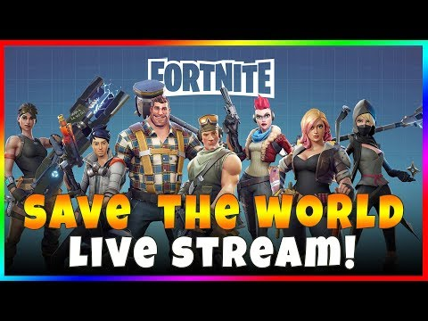 FORTNITE: SAVE THE WORLD LIVE STREAM WITH WESLEY ZOMBIE GAMING! Quest for Platinum on Every Level
