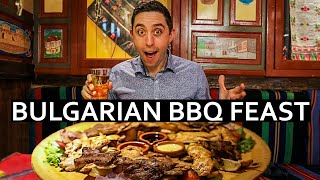 Huge BULGARIAN BBQ Meat Feast in Sofia, Bulgaria