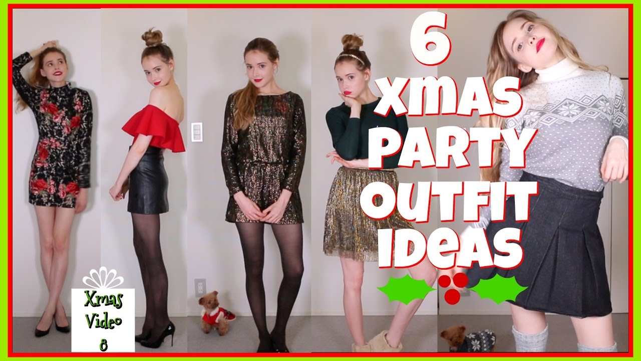 6 Christmas Party Outfit Ideas - YouTube