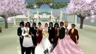 Teddy and Rhinestone SL Wedding.