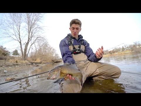 Fishing in the Dead of Winter -- Mississippi River Smallmouth