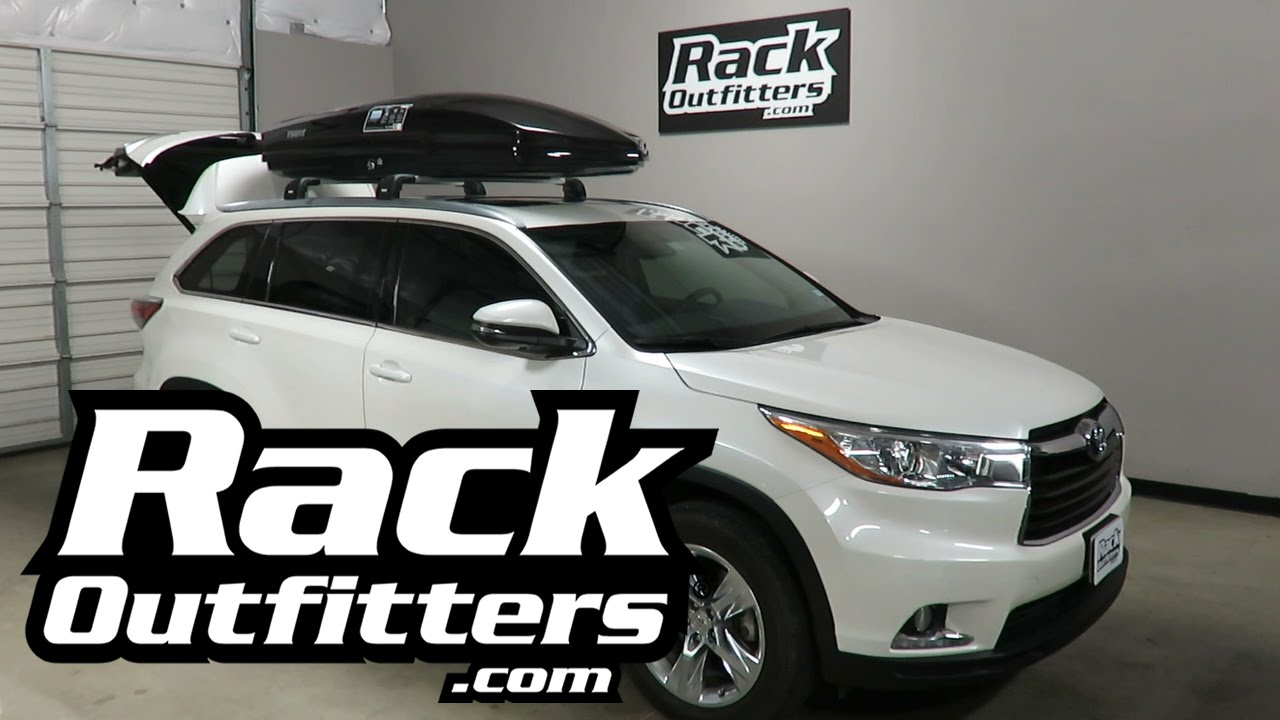 Toyota Highlander With Thule Sonic 635b Roof Top Luggage
