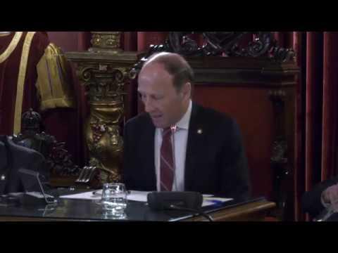 Pleno de Investidura y primeras declaraciones del Alcalde Jácome 15-6-19