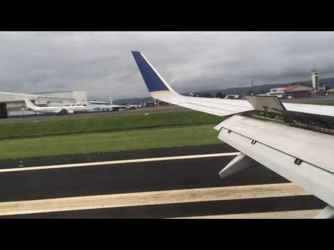 Aterrizaje aeropuerto Int. Juan Santamaría, San José Costa Rica vuelo Cm164