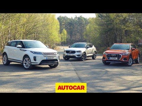 2019 Range Rover Evoque vs Volvo XC40 vs Audi Q3 review   Best small SUVs   Autocar