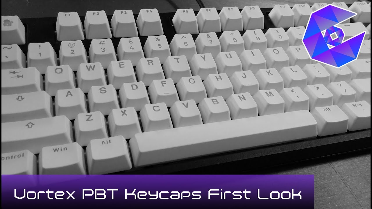 Vortex Backlit Doubleshot PBT White Keycaps on a CODE Keyboard