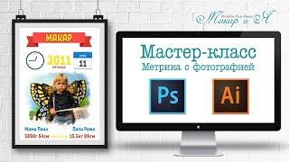Мастер-класс метрика с фотографией в Adobe Illustrator и Adobe Photoshop