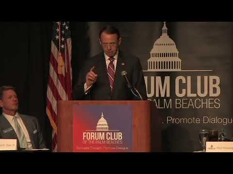 Forum Club 1.5.18 U.S. Deputy Attorney General Rod Rosenstein