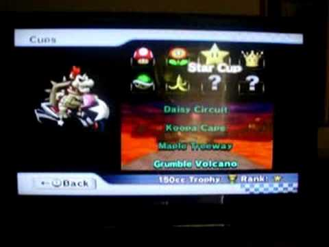 Mario Kart Wii Unlocking Dry Bowser With Four 150cc Cups