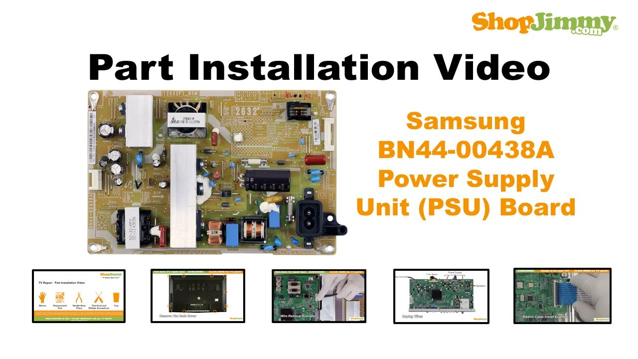 Samsung Bn44 00438a Power Supply Unit Psu Boards Replacement Guide Bn 96 Schematic Circuit Diagram Electro For Lcd Tv Repair