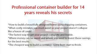 Easy Way To Build Your Own Container Home |build Cargo Container Home Diy