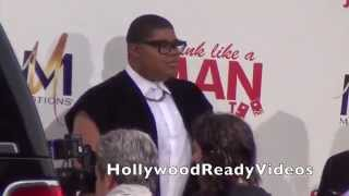 Earvin Johnson III & Elisa Johnson arrive at the Think like a Man Too premiere in Hollywood