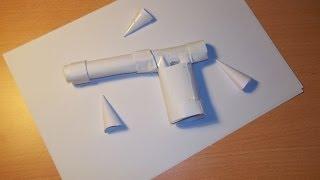 Come costruire una pistola di carta capace di sparare!!!