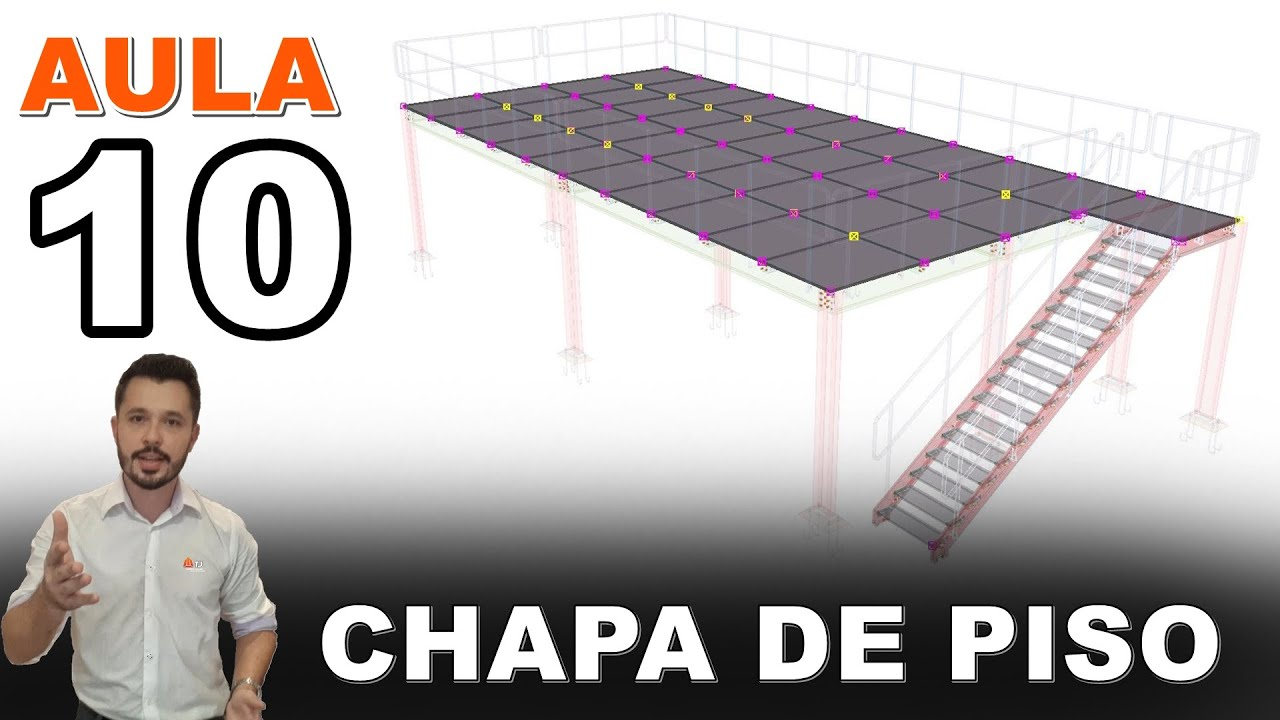 Mezanino - Curso Tekla Structures - Aula 10 - Modelagem Chapas de piso