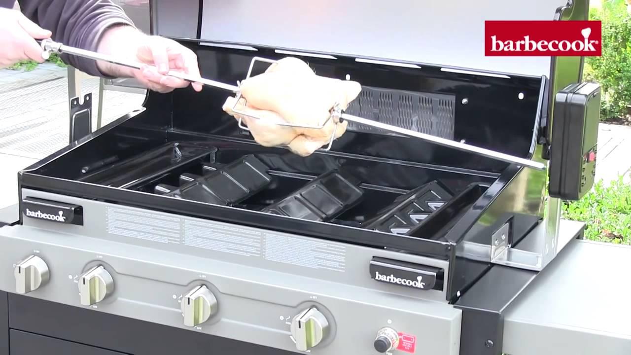 Kit girarrosto per barbecue a gas youtube for Copertura per barbecue a gas