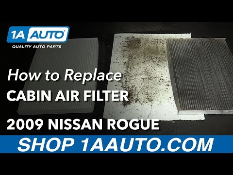 How to Replace Cabin Air Filter 08-13 Nissan Rogue