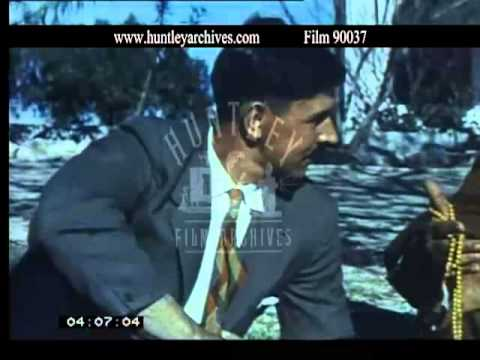 Bahrain and Manama in the 1950's, Dilmun burial mounds. Film 90037