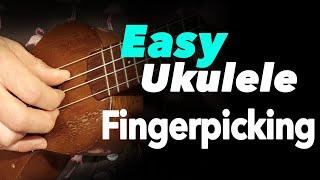 INCREDIBLY EASY Fingerpicking Lesson for Ukulele - BEGINNER TUTORIAL w/ FREE TAB
