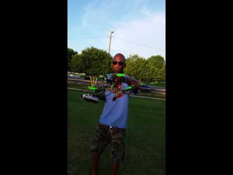 Drone hits cameraman