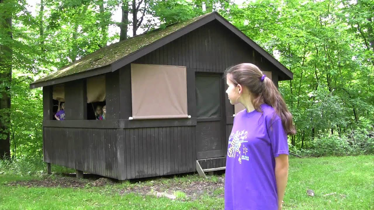 Cabin adirondack and glen shelter camping for girl for Camp gioia ohio cabine