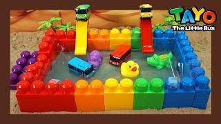 Мощные большегрузные автомобили l Горка в бассейне с радужными стенами l Приключения Тайо