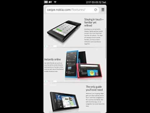 Nokia N9 pr 1.1 browser scrolling/zooming behavior