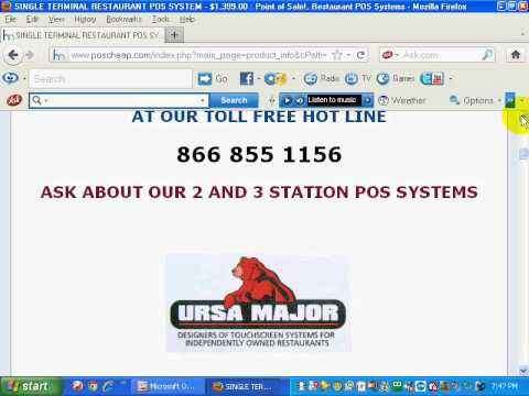 RESTAURANT POS URSA MAJOR (CALL 1 585 872-3451)  1 STN $1,099.00, 2 STN $1,899., 3 STN $2,799.wmv