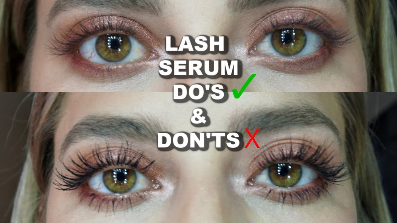 b84ab35f769 THE TRUTH ABOUT LASH SERUM AND GROWING LONG LASHES! - YouTube