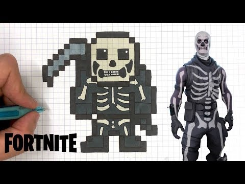 Tuto Dessin Squelette Skin Fortnite Pixel Art Youtube