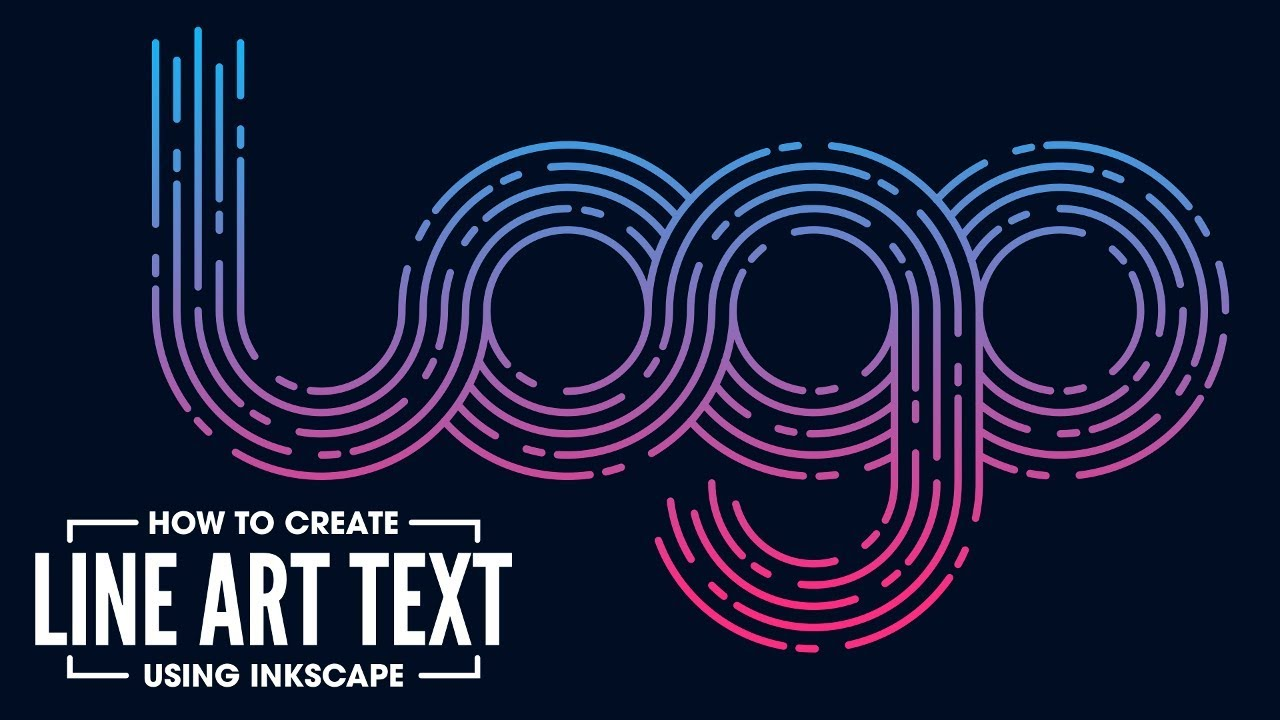 Line Art Logo Tutorial : Inkscape tutorial line art logo text youtube