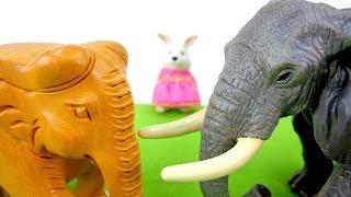 Видео для детей: Зайчата! Рассказ про слонов! Животные для детей