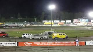 CRAZY Figure 8 Trailer Race At Eve Of Destruction Wisconsin International Raceway