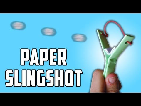 How to Make a POWERFUL Paper Slingshot