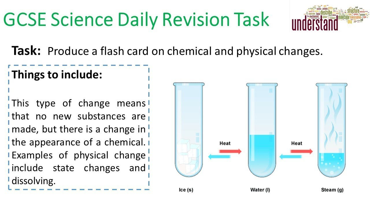 GCSE Science Daily Revision Task 89:  Physical & Chemical Changes - YouTube
