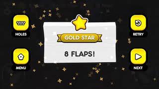 Flappy Golf 2 SEWER LAND HOLE 1-9 Gold Star Walkthrough