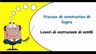 VOCABULAIRE FRANCAIS ITALIEN # Thème = Construction de bâtiments pour les services sociaux