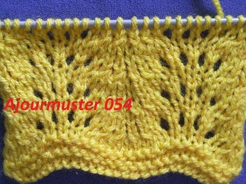 Ajourmuster 054*Stricken Lernen*Muster Für Pullover*Mütze*Tutorial Kreativ