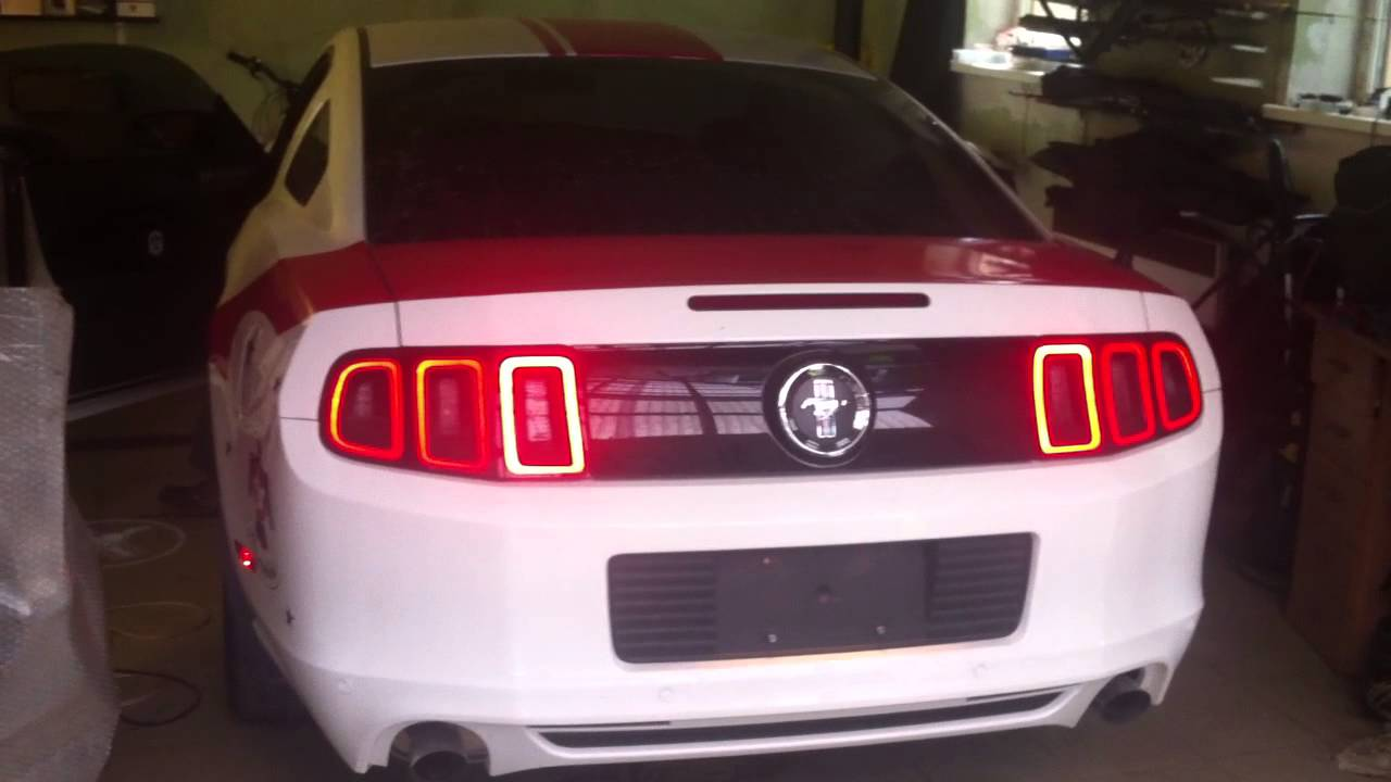 Mustang 2014 Tail Lights Conversion To Eu From Usa Youtube