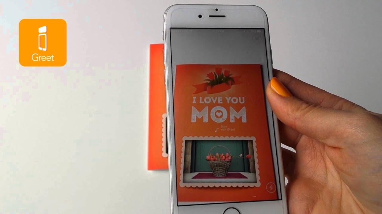 igreet augmented reality greeting cards i love you mom youtube