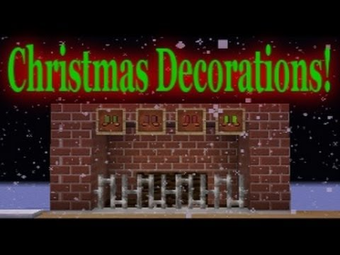 Christmas Minecraft Decorations.Minecraft Vanilla Christmas Decorations
